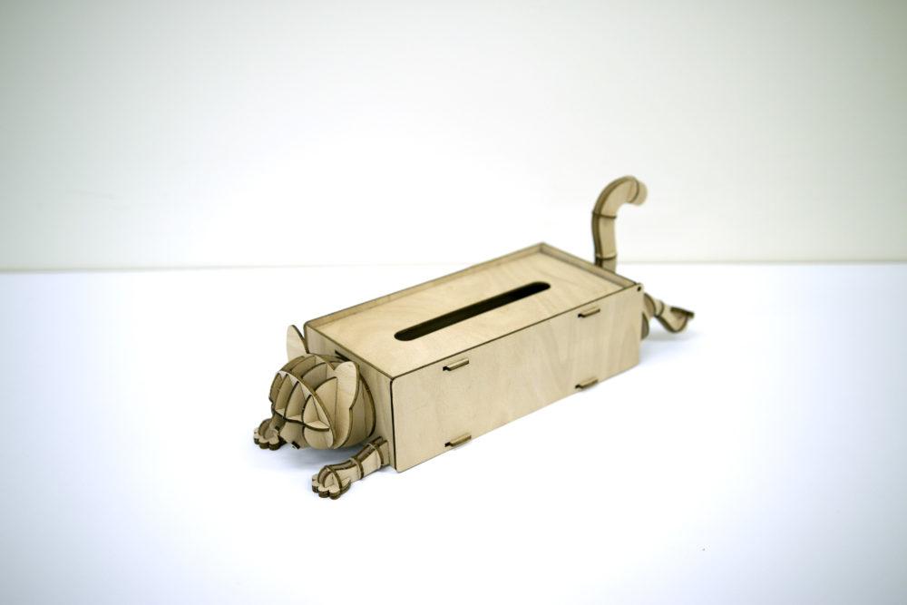 ネコ ティッシュケース